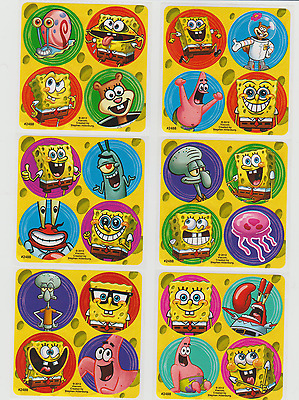 "Party Favors 1.2/"" Round Each 80 Assorted Peanuts Movie Mini Stickers"