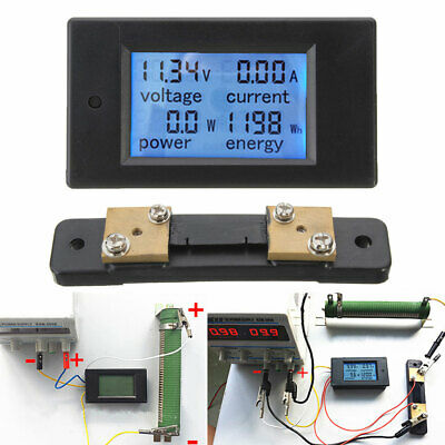 100A DC 6.5V-100V Digital LCD Monitor Power Energy Meter Voltmeter Ammeter Gauge
