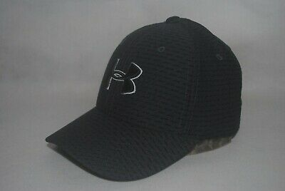 buy popular 66ad2 bd5cb Under Armour Boy s UA Heathered Blitzing 3.0 Cao Black Ink Stretch Fit Hat  XS S