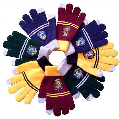 Harry Potter Winter Gloves Gryffindor Hufflepuff Slytherin Ravenclaw Glove Gift