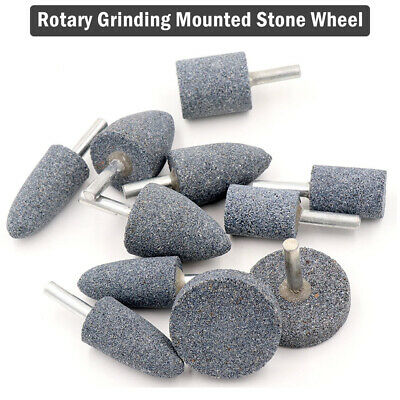 16 20 25 30 40mm Rotary Grinding Mounted Stone Wheel 6mm Shaft For Drill Grinder
