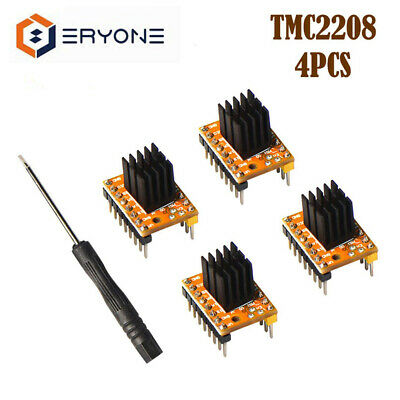 4 Stepper Motor Driver TMC2208 For 3D Printer Motherboard Packed with Heat Sink
