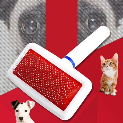 Handle Shedding Dog Puppy Pet Cat Hair Brush Pin Fur Grooming Trimmer Daily