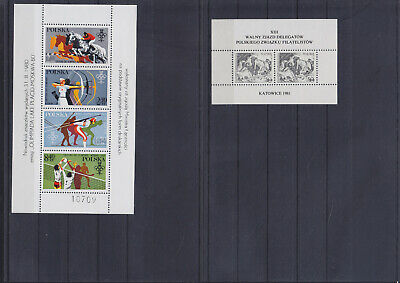 073515 Polen SD Sonderdrucke Stamps Briefmarken ** MNH - Lot Year 1981