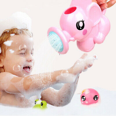 Children Kids Baby Swimming Bath Toys Small Elephant Watering Pot Showering New