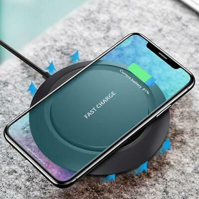 10W Qi Wireless Charger Charging Pad Receiver for iPhone XS XR 8 Samsung S9 lot