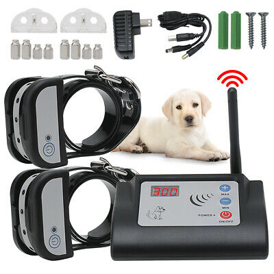 Rechargeable Wireless Electronic Fence System Training Collars For 1/2 Pet Dogs