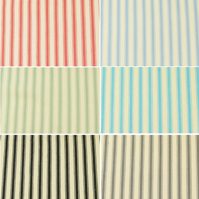 100% Cotton Canvas Fabric John Louden 8mm Ticking Stripes Woven 137cm Wide