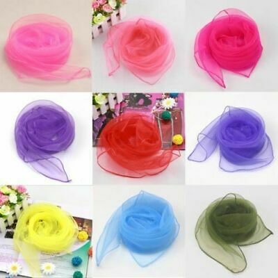 Women Ladies 50s Square Chiffon Neck Head Scarf Scarves Wrap New Cute Well