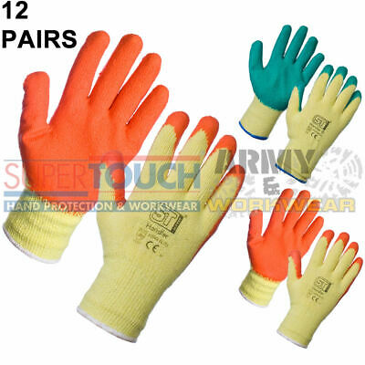 GLOVES SMALL WORK GARDEN BLACK FLEXIBLE POLYESTER LATEX GRIP BRICKY