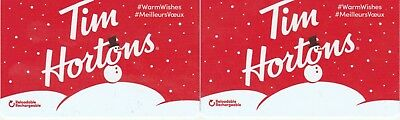 2 Tim Hortons Gift Cards $0----Collectible------NO VALUE