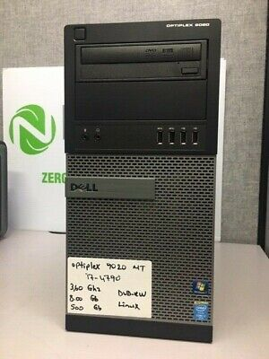 Dell Optiplex 9020 Mini Tower Intel  i7-4790 3.60GHz 8GB/500GB DVD/RW Linux PC