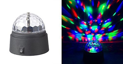 Rotating Crystal Disco Ball Lamps Led Light Dome Battery-Operated Event Stage