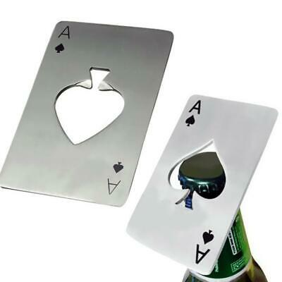 Funny Metal Poker Playing Cards Throwing Toy Creative Bottle Sofa Beer Opener US