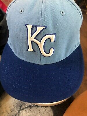 super popular eac7b 40bab Kansas City Royals KC New Era 59fifty Fitted Hat MLB Size 8 On Field Cap