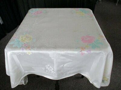 "VINTAGE DAMASK TABLECLOTH - 54""sq. - UNUSED"