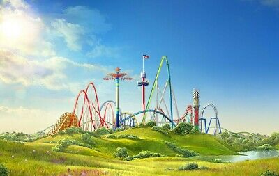 CAROWINDS, 2 ADULT TICKETS, 2019 GOOD ANY DAY ADMISSION. Shipped USPS Priority!