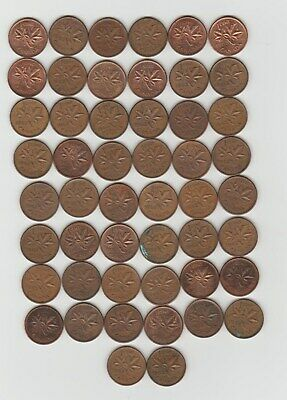 1 roll ( 50 ) Canada  1962 small cents