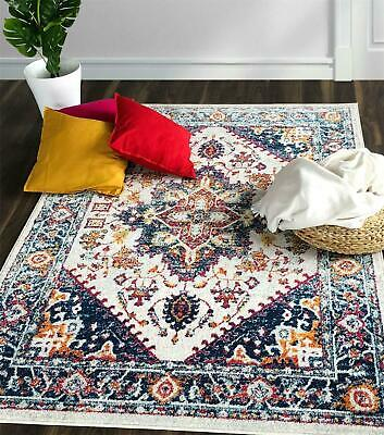 Extra Large Terracotta Grey Blue Beige Rugs Floral Vines Geometric Area Carpets