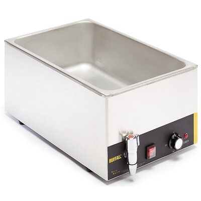 Buffalo Bain Marie with Tap (without Pans)  L310 Catering Commercial
