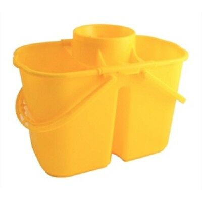 Jantex Colour Coded Twin Mop Bucket 7 & 8 litre section  - choice of colours