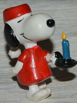 Snoopy Woodstock Peanuts United Feature PVC Figure Charles Schultz Vintage