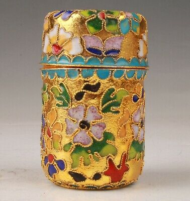 Cloisonne Toothpick Box Handmade Home Decoration Old Gift Collect