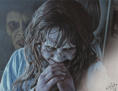 Linda Blair 'The Exorcist' High Quality Art Print sgn by artist Frederick Cooper