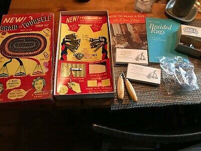 VINTAGE NU FLEX CO BRAID IT YOURSELF HOBBY KIT extras rug braiding