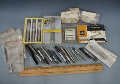 Great Lot of 20 New & Used USA Made, 4-Flute & Other Machinists Taps, L-2273