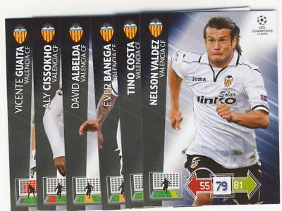 Panini Adrenalyn XL Champions League 2012 2013 Update Base Valencia complete