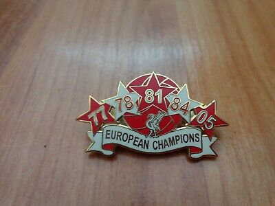 Classic Liverpool Fc 5 Times Champions Of Europe Football Enamel Pin Badge