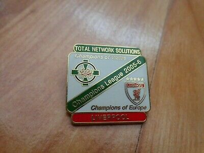 Classic Liverpool Fc Champions Of Europe 2005 + Tns Champions Of Wales Pin Badge