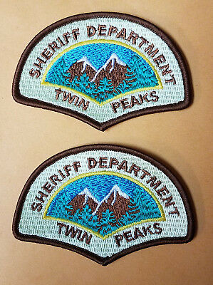 Twin Peaks Sheriff Department 3 1 2 Zoll Patch Uniform Cosplay Kostüm