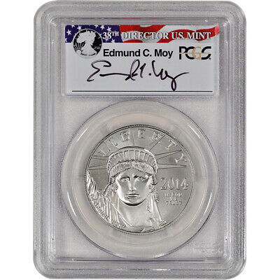 2014 American Platinum Eagle (1 oz) $100 - PCGS MS70 - First Strike - Moy Signed