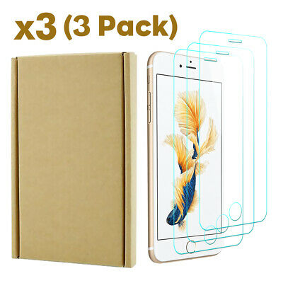 For iPhone 6 7 8 Plus XS XR XS Max Tempered Glass Screen Protector Film 3Pcs