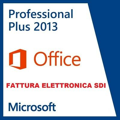 Office 2013 Professional Plus Pro Key 32/64 Bit - Licenza Esd - Fattura Italiana