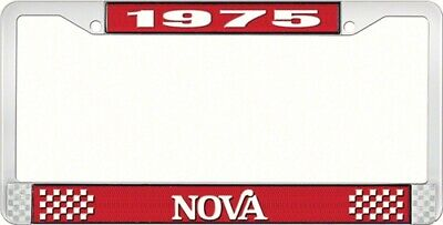 OER LF3567502C 1975 Nova License Plate Frame Style 2 Red