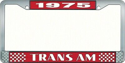 OER LF2327502C 1975 Trans Am License Plate Frame Style 2 Red