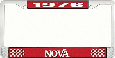 OER LF3567602C 1976 Nova License Plate Frame Style 2 Red