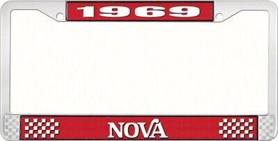 OER LF3566902C 1969 Nova License Plate Frame Style 2 Red