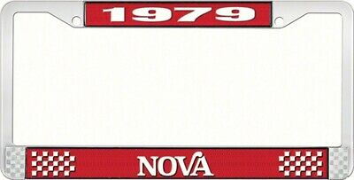 OER LF3567902C 1979 Nova License Plate Frame Style 2 Red