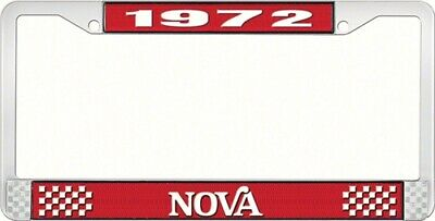 OER LF3567202C 1972 Nova License Plate Frame Style 2 Red