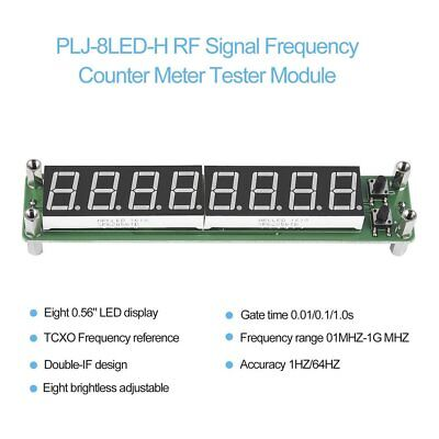 PLJ-8LED-H 8 Digit 0.1~1000MHz RF Signal Frequency Counter Meter Tester LED BC