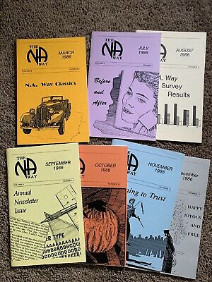 Narcotics Anonymous - NA Way magazine collection of 41 issues from 1985 to 1991