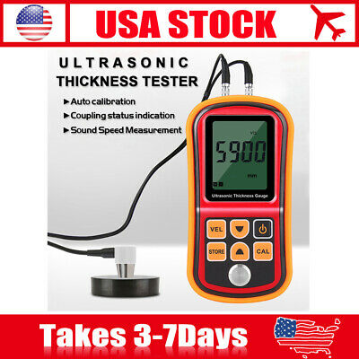 Digital Ultrasonic Thickness Gauge Depth Width Sound Velocity Measurement Tester