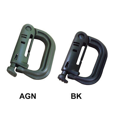 5Pcs Carabiner Buckle Molle Tactical Backpack EDC Shackle D-Ring Clip Key Ring