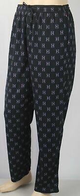 Tommy Hilfiger Black Pajamas Lounge Sleep Pants Multi H Tommy Logo NWT