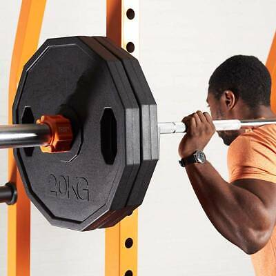 Fitness Barbell Disc Plates Rubber Coated Dumbbell Hex Olympic Weight Lifting