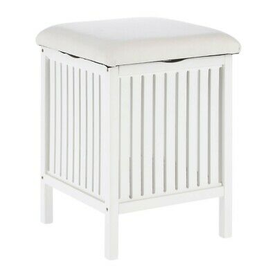 Rustic Bathroom Stool White Wooden